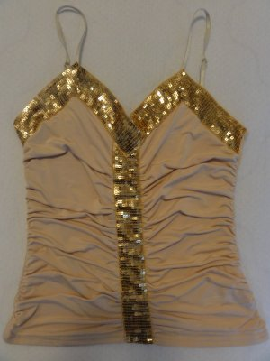 Goldrausch- Top, Gold