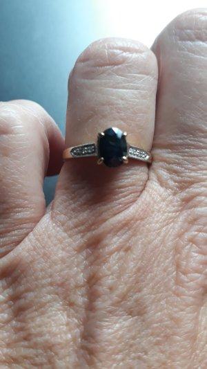 Vintage Gouden ring goud-blauw