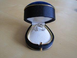 Goldring Verlobungsring 18 Karat (750er) mit 3 weißen Brillanten