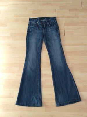 Goldsign Jeans flare bleu acier-gris