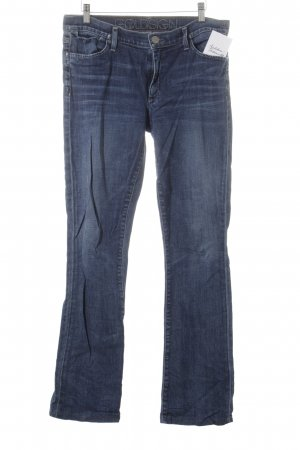 Goldsign Straight-Leg Jeans dunkelblau-wollweiß Washed-Optik