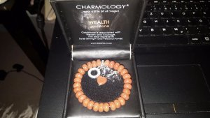 Goldstone bracelet from Essania Charmologie. Silver made