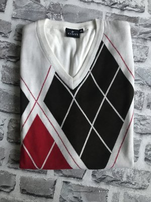Cross Fine Knitted Cardigan multicolored