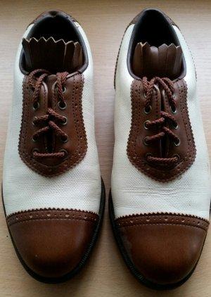 JOY Sportswear Chaussure de travail marron clair-blanc cassé