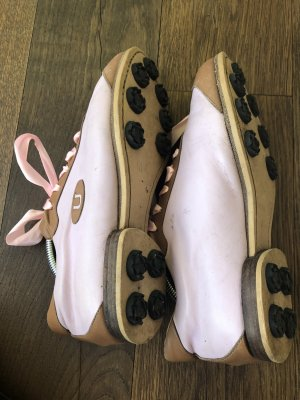 Unützer Zapatos brogue rosa claro-beige