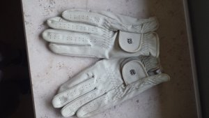Gloves oatmeal leather
