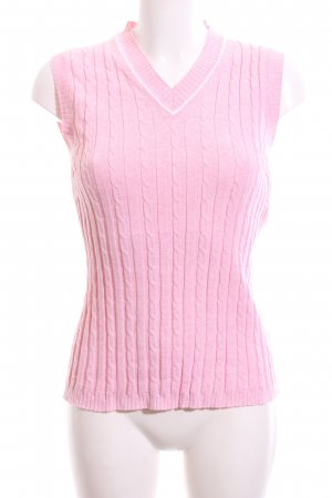 Golfino Cardigan en maille fine rose style décontracté