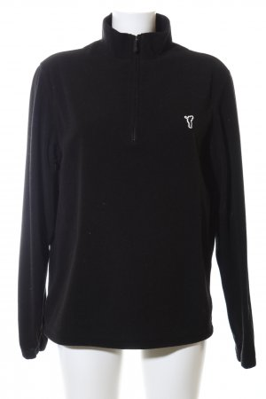 Golfino Fleecepullover schwarz Casual-Look