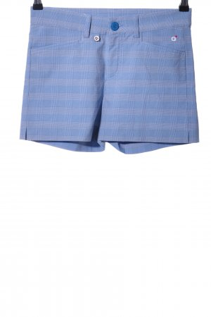 Golfino High-Waist-Shorts blau Karomuster Casual-Look
