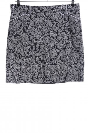 Golfino Culotte Skirt black-white abstract pattern business style