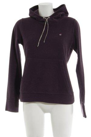 Golfino Kapuzensweatshirt lila Motivdruck Casual-Look