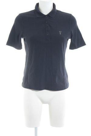 Golfino Camiseta tipo polo azul oscuro look casual
