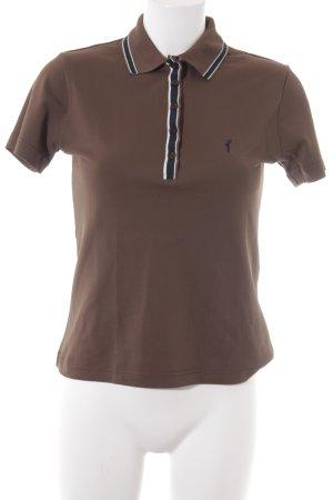 Golfino Polo-Shirt dunkelbraun-dunkelblau sportlicher Stil