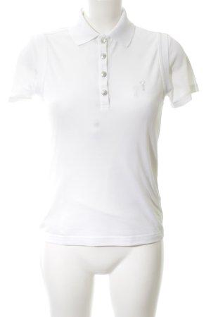 Golfino Polo-Shirt weiß Schriftzug gestickt Casual-Look