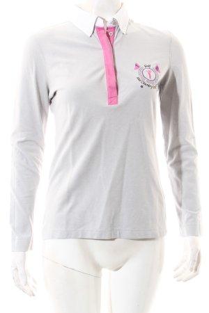 Golfino Polo-Shirt hellgrau-pink sportlicher Stil
