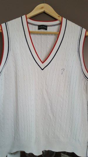 Golfino Sportswear Pullunder, Feinstrick, Zopfmuster, weiß