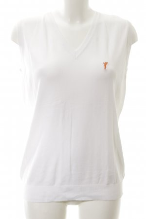 Golfino T-Shirt weiß-hellorange Casual-Look