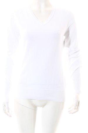 Golfino V-Ausschnitt-Pullover weiß Casual-Look