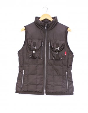 Golfino Quilted Gilet black brown