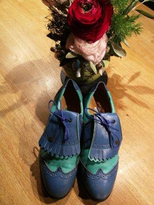 Cavallo Zapatillas azul acero-turquesa Cuero