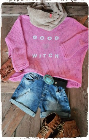 Oversized Sweater pink mixture fibre