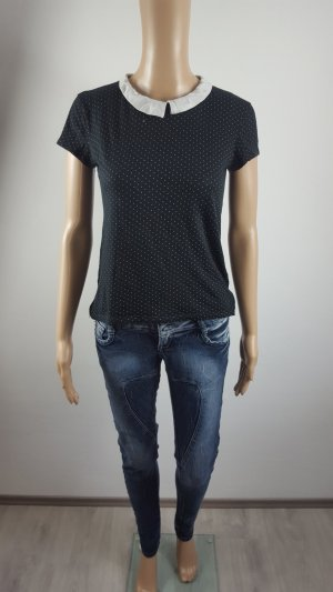 Goodies Damen Bikerhose Jeans Röhrenjeans Größe 36 blau bleached