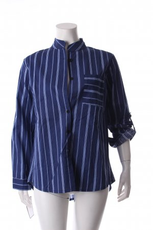 Goodnight Macaroon Hemd-Bluse dunkelblau-himmelblau Streifenmuster