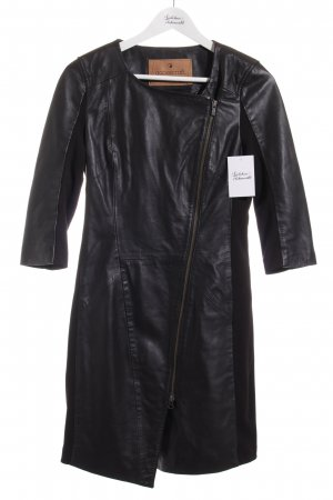 Goosecraft Lederkleid schwarz Elegant