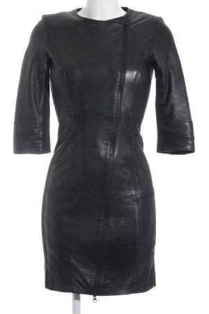 Goosecraft Lederkleid schwarz schlichter Stil