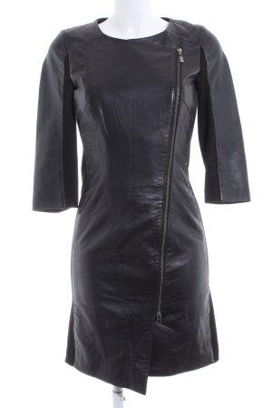 Goosecraft Manteau en cuir noir élégant