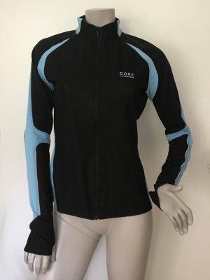 Gore Running Wear Windstopper Soft Shell Jacke schwarz blau Gr. 38