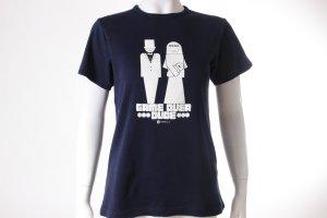 Gorilla T-Shirt mit Hochzeits-Print