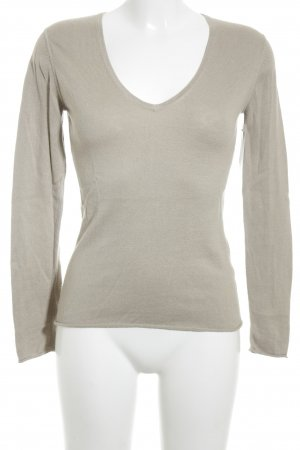 Gosche V-Ausschnitt-Pullover beige Casual-Look
