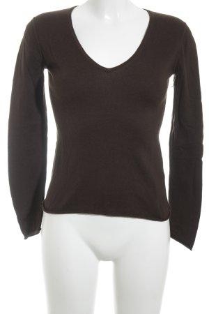 Gosche V-Ausschnitt-Pullover braun Casual-Look