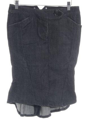 Gosha Asymmetry Skirt dark blue-white flecked extravagant style