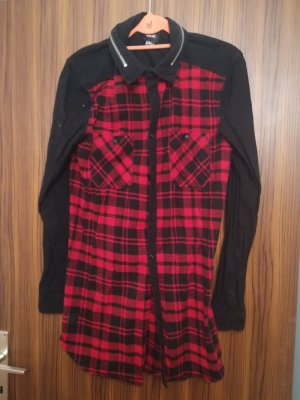 Black Kaviar Long Sleeve Shirt black-red