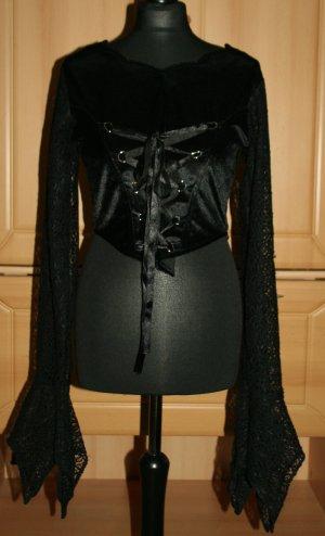 Gothic Bluse Spitze schwarz Hard Leather Stuff Mittelalter Gr. M/38 - Neu