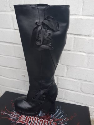 Demonia Chelsea laarzen zwart