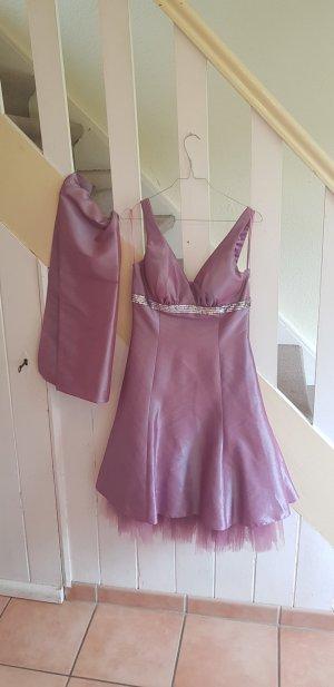 Gr. 10  38-40 Abendkleid Kleid Cocktail Rosa 1x getragen