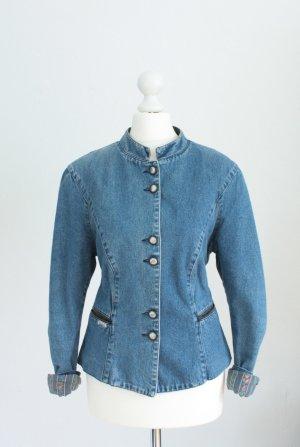 gr.34/36 Vintage Jeansjacke *H.I.S* tailliert boho xs s