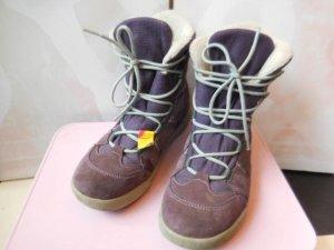 Gr. 35 Lowa Winterstiefel Schneestiefel Goretex Violett mit Wildleder sehr warm, Innensohle 23cm hoher Neupreis wenig getragen
