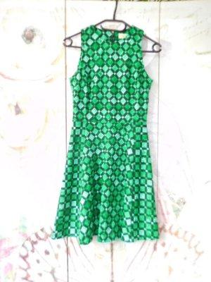 Gr. 36/38 Michael KORS Kleid grün schwarz hoher NP sehr guter Zustand