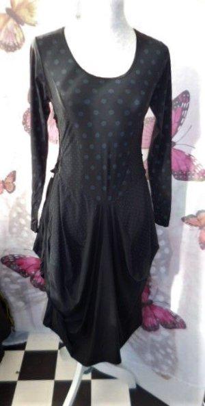 Robe mi-longue noir-gris
