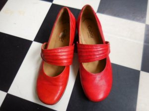 Gabor Comfort Mary Janes red leather