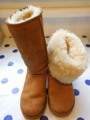 UGG Fur Boots cognac-coloured-light brown fur