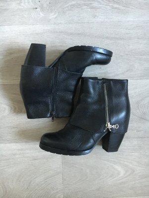 Gr.38/39 Leder Boots stiefel robust bikerlook *mimic Copenhagen*