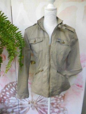 4Wards Denim Jacket sand brown-green grey