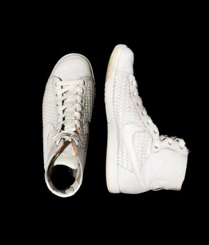 Nike High Top Sneaker white leather