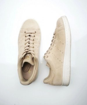 Gr. 38 Adidas Stan Smith Wildleder Sneaker Beige Creme
