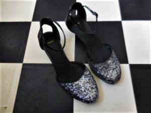 Camper Strapped High-Heeled Sandals black-silver-colored